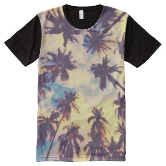 Hawaiian Palm Tree Print Aloha Shirt All-Over Print T-Shirt