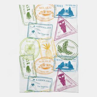 Hawaiian Passport Stamp Kitchen Towel