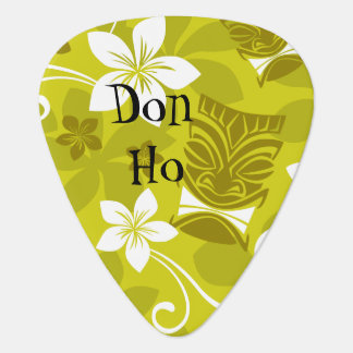Hawaiian Patterned Tiki Guitar Pick
