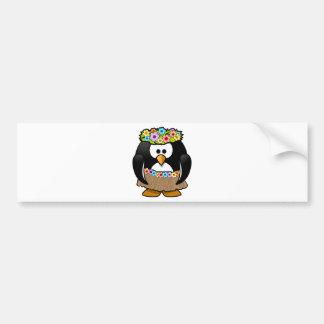 Hawaiian Penguin With flowers and grass skirt Bumper Sticker