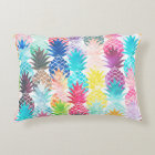 Hawaiian Pineapple Pattern Tropical Watercolor Decorative Cushion