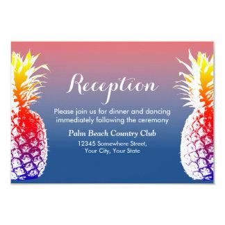 Hawaiian Pineapple Wedding Reception 9 Cm X 13 Cm Invitation Card