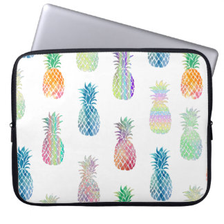 hawaiian pineapples pattern laptop sleeve