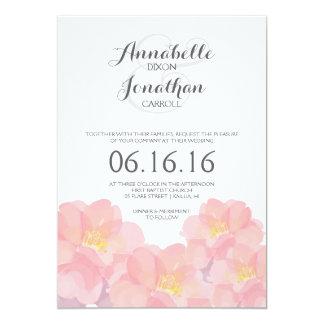 Hawaiian Pink Floral Wedding Invitation