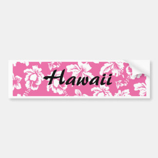 Hawaiian Pink Flower Bumper Sticker