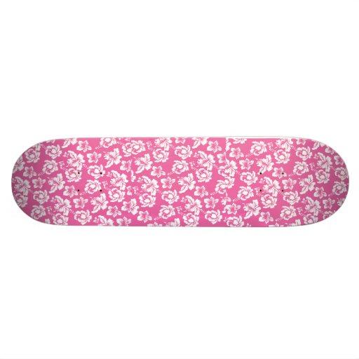 Hawaiian Pink Flower Skate Decks