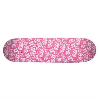 Hawaiian Pink Flower Skateboard Deck