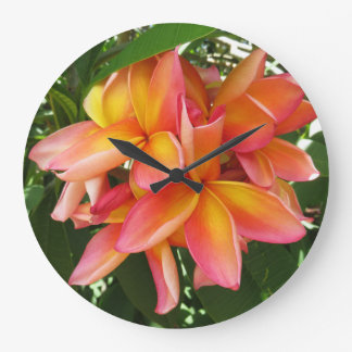 Hawaiian Plumeria Clock