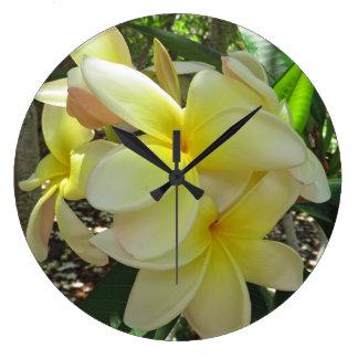 Hawaiian Plumeria Large Clock