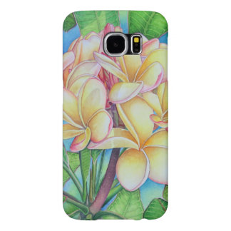 Hawaiian Plumeria Samsung Galaxy S6 Cases