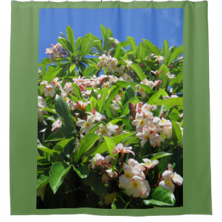 Hawaiian Plumeria Shower Curtain