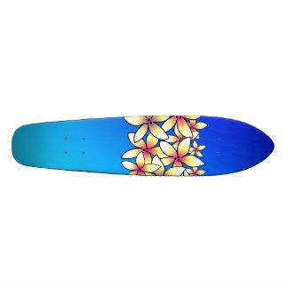 Hawaiian Plumeria Skateboard