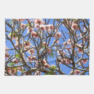 Hawaiian Plumeria Tea Towel