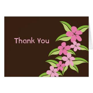 Hawaiian Plumeria Thank You Note Card
