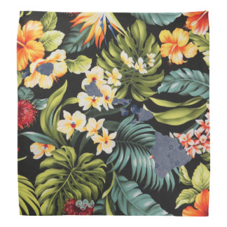 Hawaiian Print & Floral Hawai State Bandana