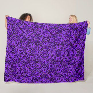 Hawaiian Purple Sea Turtles Satin Foulard Mandala Fleece Blanket