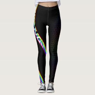 Hawaiian Rainbow Grid Leggings