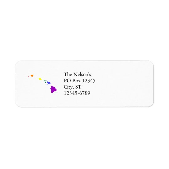 Hawaiian Rainbow Return Address Label