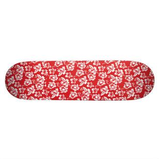 Hawaiian Red Flower Skate Deck