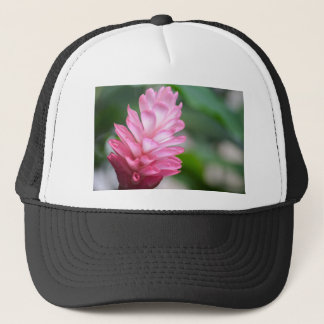 Hawaiian Red Ginger Flower Trucker Hat