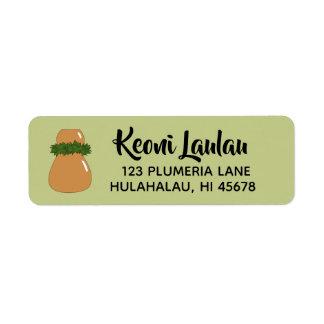 Hawaiian Return Address Labels Ipu Hula Dance Drum