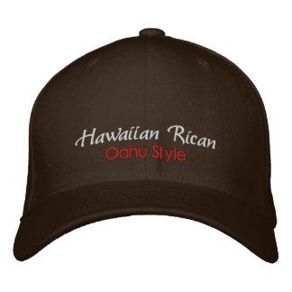 Hawaiian Rican, Oahu Style Hat Embroidered Baseball Caps