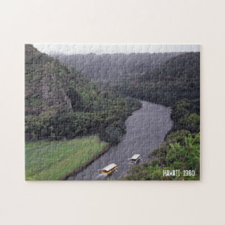 Hawaiian River Landscape Tropical Scenery Boats Puzzle