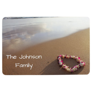 Hawaiian Sand Beach Lei Personalized Floor Mat