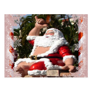 Hawaiian Santa Claus Christmas postcard