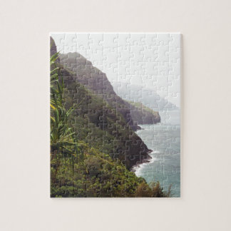 Hawaiian Seaside Mountain Jigsaw Puzzle