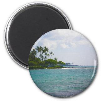 Hawaiian Shore 2 Inch Round Magnet