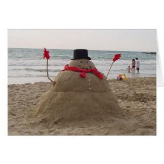 Hawaiian Snowman Card