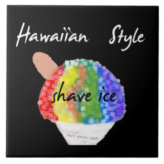 Hawaiian Style Decorative Shave Ice Tile