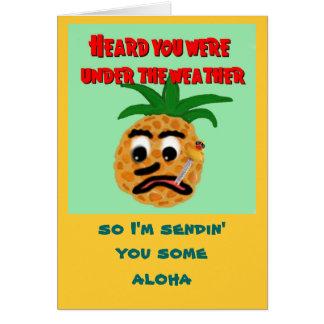 Hawaiian-Style Get Well Card