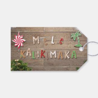 Hawaiian Style Gingerbread Greeting Gift Tags