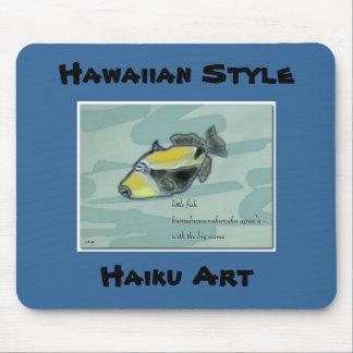 Hawaiian Style Humuhumunukuku apua a Haiku pad Mouse Mats
