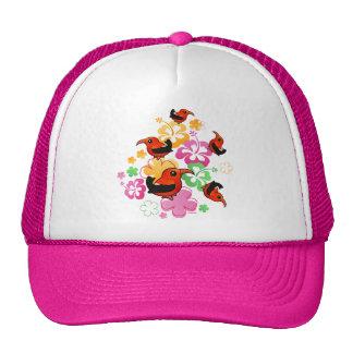 Hawaiian-style 'I'iwi Mesh Hats