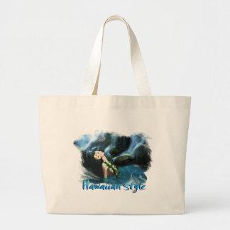 Hawaiian Style Jumbo Tote Bag