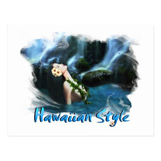 Hawaiian Style Postcard