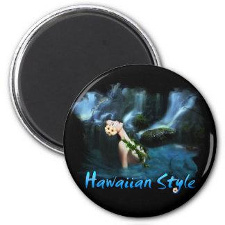 Hawaiian Style Round Magnet