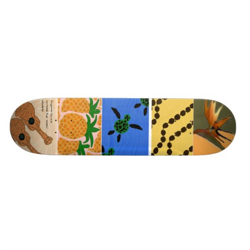 Hawaiian-style Skateboard