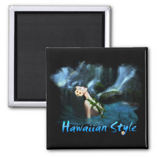 Hawaiian Style Square Magnet