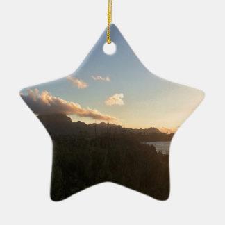 Hawaiian Sunrise Ceramic Star Decoration