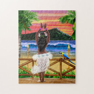 Hawaiian Sunset Hula Dancer Puzzle