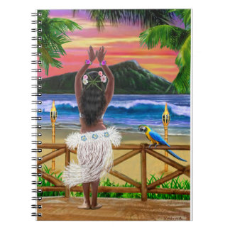 HAWAIIAN SUNSET HULA NOTEBOOK