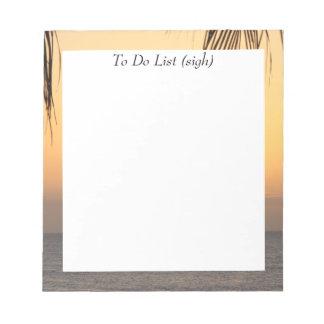 Hawaiian Sunset Notepad