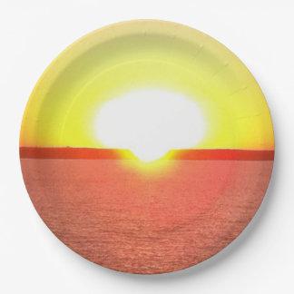 Hawaiian Sunset Paper Plates
