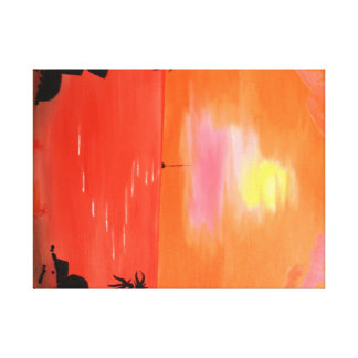 Hawaiian Sunset Sky and Sailboat Canvas Print