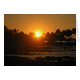Hawaiian Sunset Thank You Card