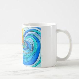 Hawaiian Surf Art - The Big Wave Basic White Mug
